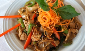 Tom Yum Thai Restaurant: Thai Food for Two at Tom Yum Thai Restaurant (Up to 38% Off). Two Options Available.