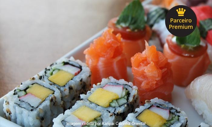 Kanpai - Lagoa da Conceição - Florianópolis: Kanpai – Lagoa da Conceição: buffet livre de sushi e pratos quentes, para 2 ou 4 pessoas, a partir de R$ 99,90