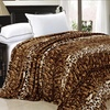 BNF Home Faux-Fur Animal-Print Blankets