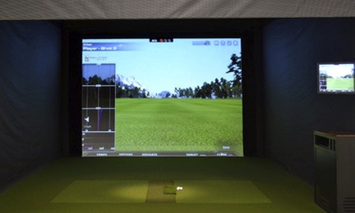 The Players Club - Paramus: One Hour in a Golf Simulator for One Player or Two Hours for Two at The Players Club (Half Off). Four Options Available.