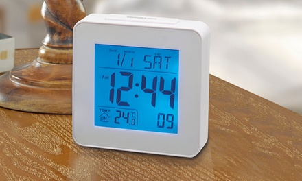 Radio-Controlled Digital Alarm Clock from £9.98 (Up to 66% Off)