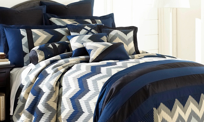 8-Piece Embroidered/Embellished Comforter Sets: $69.99 for CHT Home 8-Piece Comforter Set (Up to 83% Off). Multiple Options Available. Free Shipping and Returns.
