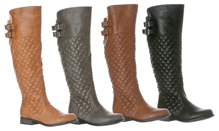 Riverberry Lily Women's Knee-High Quilted Riding Boot