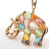 Rhinestone Elephant Keychain