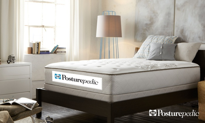 Sealy Posturepedic Wareham Cushion Firm Mattress Set ...