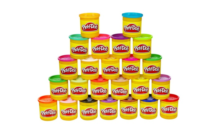 Play-Doh Multicolored 24-Pack: 24-Pack of Multicolored Play-Doh. Free Returns.
