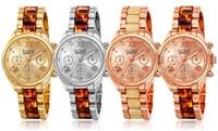 GROUPON: Burgi Women's Multifunction Swiss Watch Burgi Women's Multifunction Swiss Watch