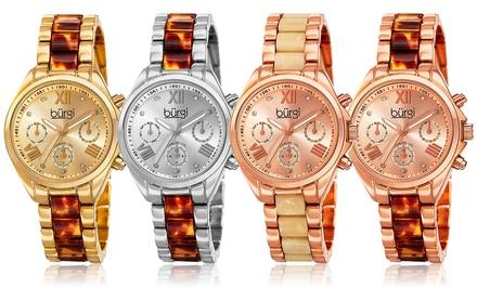 Burgi Women's Diamond Multifunction Swiss Watch
