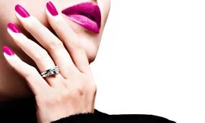 Salon Saber: One or Three Gel Manicures at Salon Saber (Up to 51% Off)