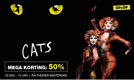 CATS: korting voor de internationale hitmusical in het RAI Theater van 20 december 2018 t/m 10 januari 2019