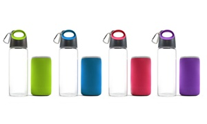Carteret Collections Hot & Cold Glass Traveler Bottle & Thermal Sleeve