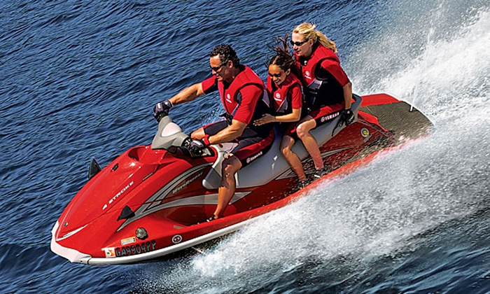 Adventure Water Sports, Inc. - Fort Myers Beach: $65 for a Guided Jet Ski Dolphin Tour for One from Adventure Water Sports ($110 Value)