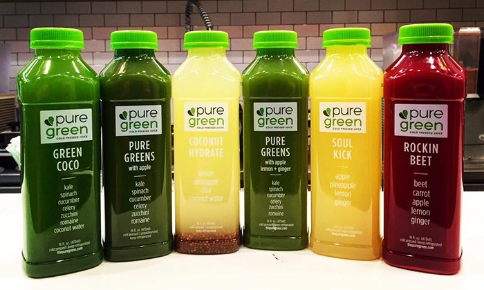 Pure Green - Pure Green: Juice Cleanses or Health Food at Pure Green (Up to 21% Off). Three Options Available.