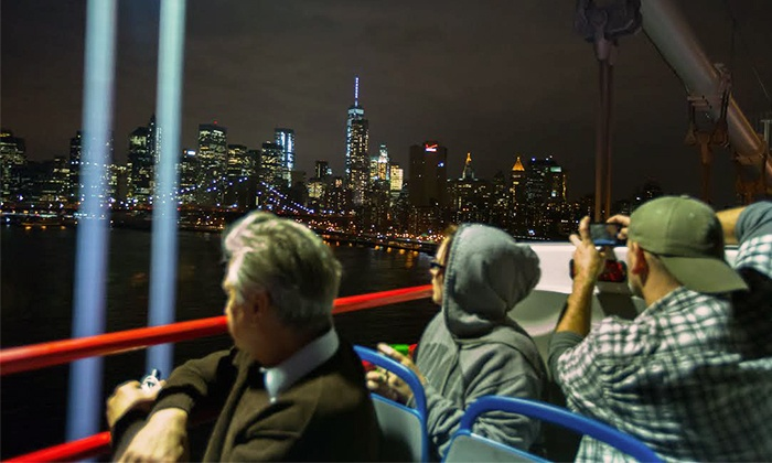 Open Loop - Hell's Kitchen: NYC Holiday Lights Nighttime Bus Tour for One, Two, or Four from Open Loop New York (Up to 48% Off)