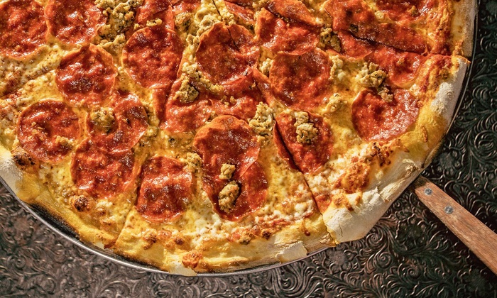 "North End Slice - Bardstown Rd: $17.50 for Any 18"" Regular or Specialty Pizza and Two Soft Drinks at North End Slice ($29.65 Value)"
