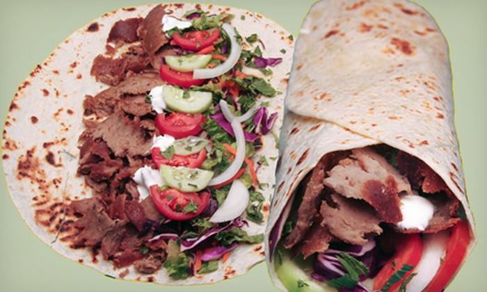 The Kebab Shop - Rancho Bernadino: $7 for $14 Worth of Kebabs and Beverages at The Kebab Shop