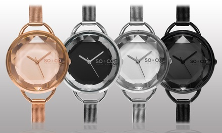 SO & CO New York Women's Mesh Bracelet Watch