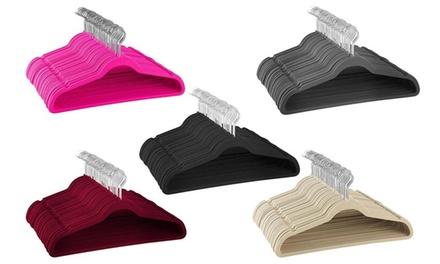 Velvet Space Saving Non-Slip Suit Hangers with Swivel Hook (25-, 50-, or 100-Pack)