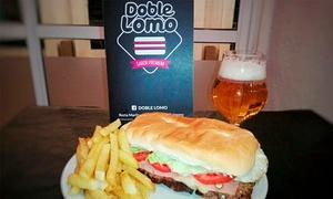 Doble Lomo: 1, 2 o 4 lomos a elección + papas + bebida en Doble Lomo