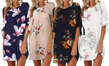 finest selection dbd95 72784 image placeholder Summer Floral Print Shift Dress