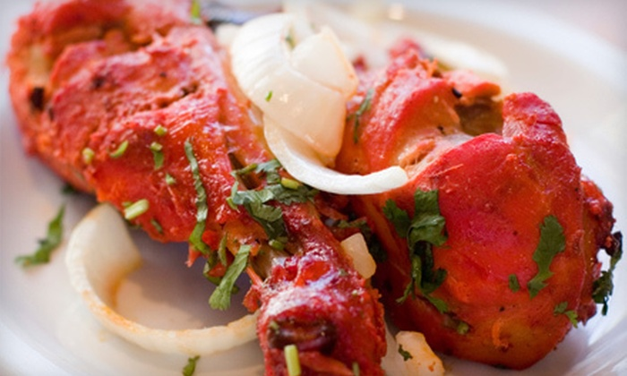 Bombay Castle - Newburgh: Indian Dinner for Two or Four with Appetizers, Entrees, Naan, and Wine at Bombay Castle (Up to 60% Off)