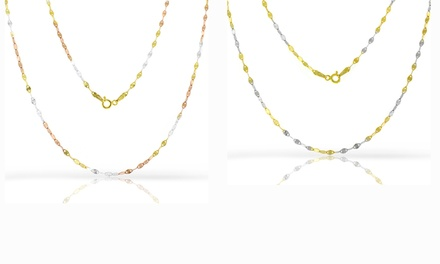 Snail Link Chains in 18K Gold Plated Sterling Silver