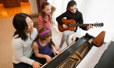 Four or Eight Piano, Voice, or Guitar Lessons at Lift Hymn Up Music (Up to 50% Off)