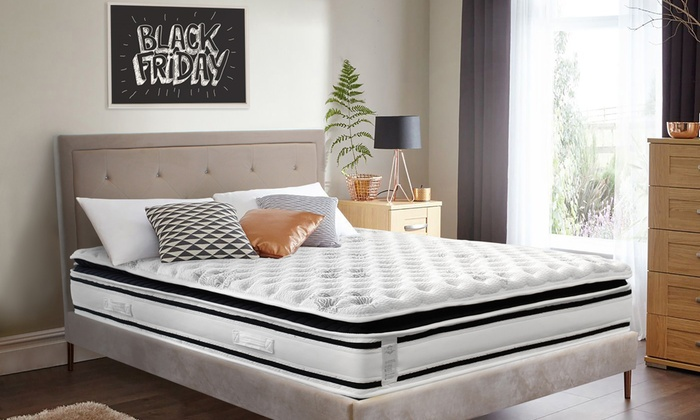 jusqu 39 84 matelas ressorts ensach s groupon. Black Bedroom Furniture Sets. Home Design Ideas