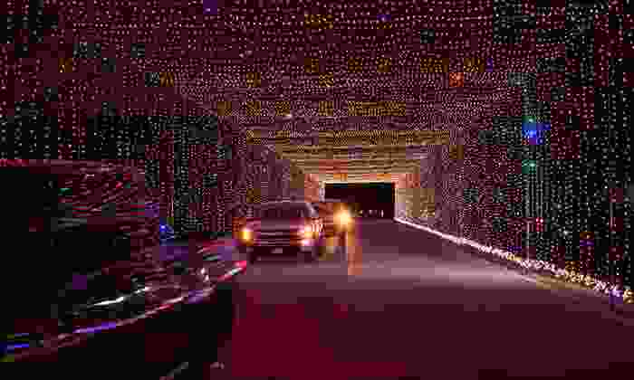 Prairie Lights - Lynn Creek Park: Drive-Thru Holiday Light Park and Two Shows at Prairie Lights (Up to 49% Off). Six Options Available.