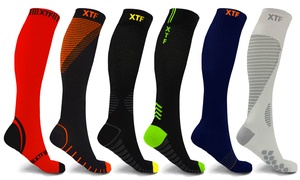 XTF Compression Socks for Men and Women (6 Pairs)