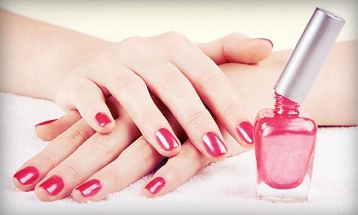 Li-en Nail Salon #5 - Traceside: Mani-Pedi and Foot Treatment or a Full Set of Tammy Taylor or Solar Nails at Li-en Nail Salon #5 (Up to 52% Off)
