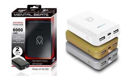 Mental Beats 6000mAh Dual-USB Power Bank