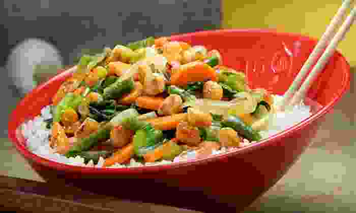 Genghis Grill - Genghis Grill - Lubbock: Build-Your-Own Stir-Fry Bowls for Two or Four at Genghis Grill (Half Off)