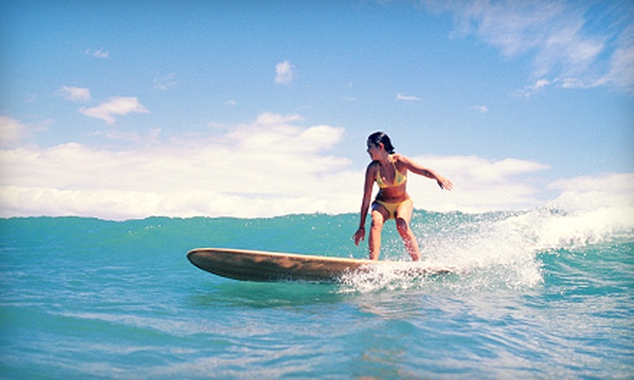 SMontero Surf Lessons - Pacific Beach: Three-Hour Private-Surfing Lesson for One, Two, or Three at SMontero Surf Lessons (Up to 54% Off)