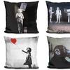 Banksy Street Art Decorative Throw Pillows