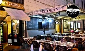 Ristorante San Cosimato: Menu di carne con 4 portate a scelta e bottiglia di vino al Ristorante San Cosimato a Trastevere (sconto fino a 72%)