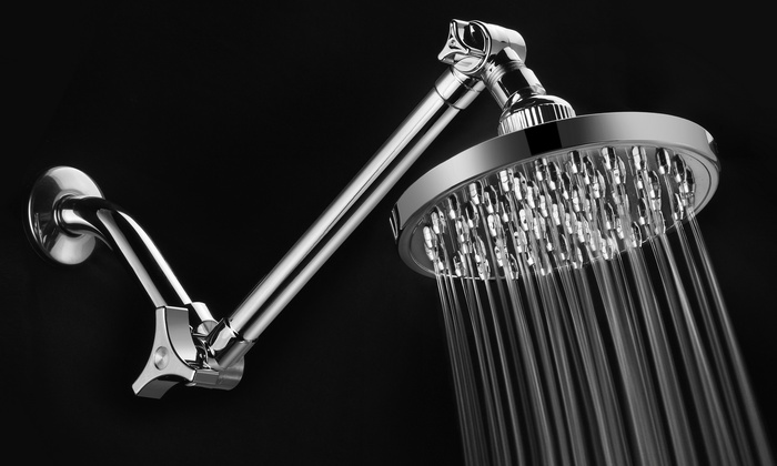 6 showerhead with arm groupon goods. Black Bedroom Furniture Sets. Home Design Ideas