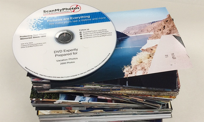 """ScanMyPhotos.com: Photo-to-DVD Scanning for 500 or 1,000 4""""x6"""" Photos from ScanMyPhotos.com (Up to 83% Off)"""