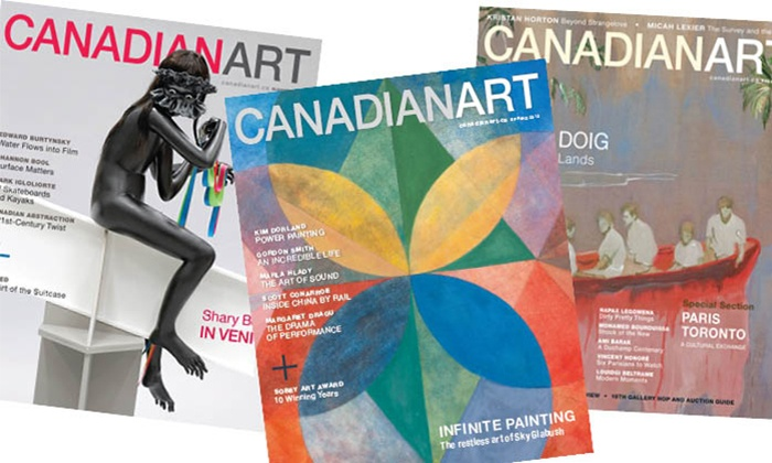 "Canadian Art Magazine: C$13 for Four Issues of ""Canadian Art"" Magazine (C$27.12 Value)"