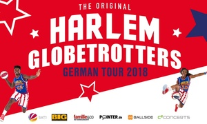 "C2 CONCERTS: Ticket für ""The Harlem Globetrotters"" German Tour 2018 im April mit spektakulärem Basketball in 16 Städten"