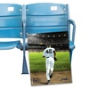 Old Yankee Stadium Seat Pair and Signed Mariano Rivera Picture
