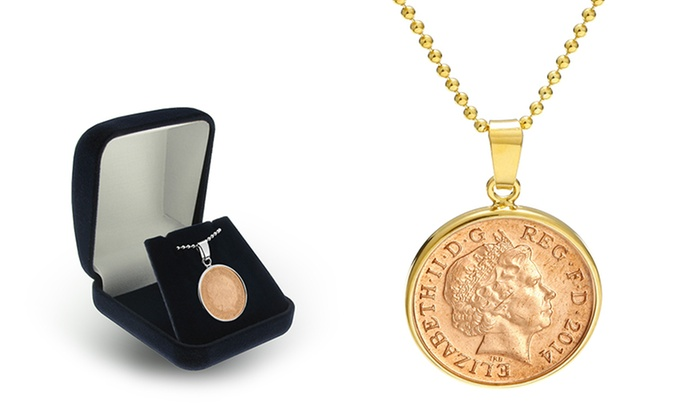 SilvexCraft: One or Two Engraved Lucky Penny Necklaces from Jewellshouse (Up to 64% Off)