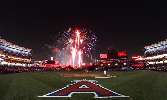 Los Angeles Angels - Angel Stadium of Anaheim: Los Angeles Angels of Anaheim Major League Baseball Game at Angel Stadium (Up to 62% Off). Four Games Available.