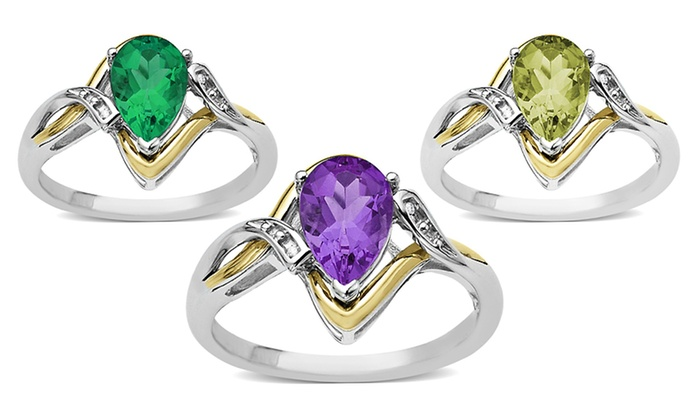 Gemstone and Diamond-Accent Rings: Gemstone and Diamond-Accent Rings. Multiple Styles Available. Free Returns.