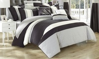 Vincenza Complete 24-Piece King Comforter Set with Window Treatments