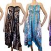 Transformer Convertible Poly-Satin Scarf Dress