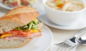 Red Carpet Cafe and Seafood Bar: Choice of Sandwich and Hot or Cold Drink for Up to Four at Red Carpet Cafe and Seafood Bar (Up to 54% Off)
