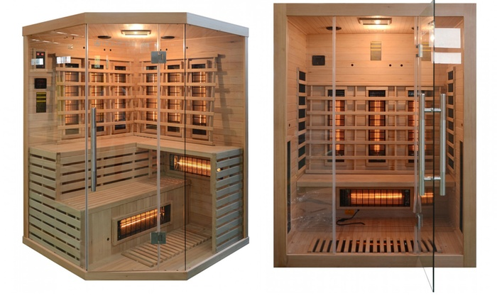 home deluxe bio sauna groupon goods. Black Bedroom Furniture Sets. Home Design Ideas