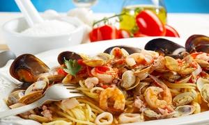 Osteria Mezzavia: Menu di pesce con 4 portate e litro di vino