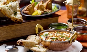 Bombay Club Indian Restaurant: Two-Course Indian Lunch or Dinner for 2 ($25) or 10 People ($115) at Bombay Club Indian Restaurant (Up to $250 Value)